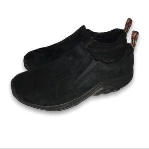 Merrell Jungle Moccasins for Men Black Wide Sizes